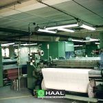 Acoustic wall and ceiling panels in the factory hall