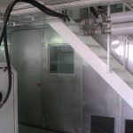 Stainless steel acoustic gates for food industry